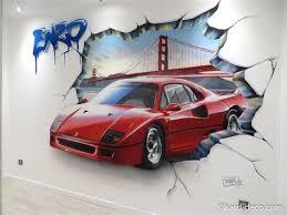 deco chambre voiture deco chambre nature 2 voitures d233coration graffiti