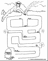astonishing leprechaun coloring page maze with leprechaun coloring