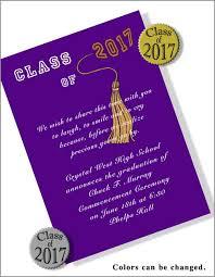 homeschool graduation announcements class of 2017 college graduation invitations item cgrfb2097c