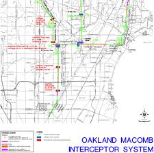 Map Of Oakland County Michigan by Upgraded Warren Sewers Red Run