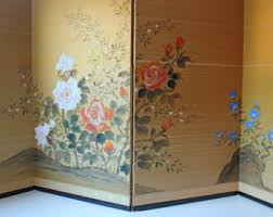 Gold Room Divider Room Divider Screen Etsy