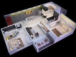 Two Bedroom House Designs Modern 2 Bedroom House Plans 3d Pictures With Beautiful For