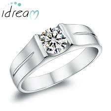 mens diamond engagement rings cubic zirconia diamond engagement ring for men 925 sterling