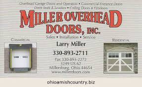 Miller Overhead Door Doors Ohio Amish Country Biz