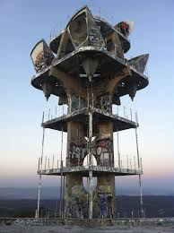 cold war era watch tower in the santa monica mountains overlooking