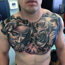 Mens Chest Tattoos - 1000 ideas about chest on tattoos chest