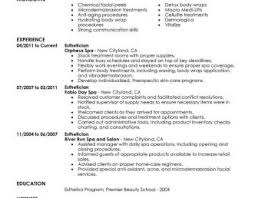 esthetician resume exle skin care specialist resume exle awesome collection of insurance
