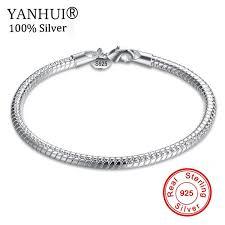 fine charm bracelet images Yanhui fine jewelry 100 original pure 925 sterling silver charm jpg