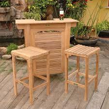Teak Patio Dining Set - shop anderson teak montego 3 piece unfinished teak bar patio