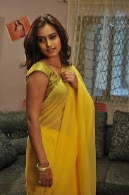 dimple chopade in yellow transparent saree stills 1