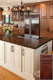 kitchen island colors with wood cabinets color options for oak cabinets rustic kitchen