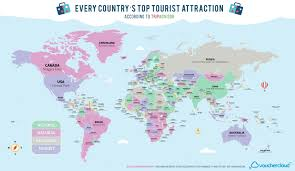 Map Your Road Trip Trip Advisor U0027s Top Tourist Attractions In Every Country Map Of