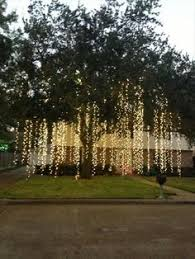 Outdoor Hanging Lights For Trees Imagine Chandeliers Like These Lighting Up Your S Outdoor