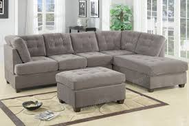 Charcoal Gray Sectional Sofa Poundex Charcoal Grey Modern Sectional 3 Pc Living Room Set