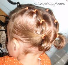 simple hairstyles with one elastic we love being moms toddler hairstyles