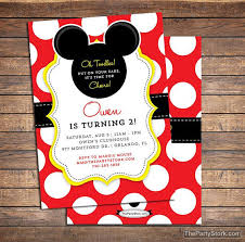 mickey mouse birthday invitations printable boys by thepartystork