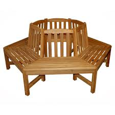 regal teak tree bench hexagon hayneedle