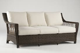 All Weather Wicker Loveseat South Sea Rattan Saint John Sofa With Cushions U0026 Reviews Wayfair