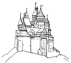 drawn castle printable pencil and in color drawn castle printable