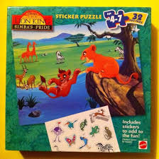 lion king simbas pride sticker puzzle 1998