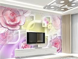 Pink Wallpaper For Walls by 3d Frame Pink Purple Carved Flowers Mural 3d Wallpaper 3d Wall