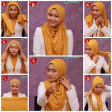 tutorial hijab pashmina kaos yang simple tutorial beginilah cara memakai jilbab pashmina modern gamis