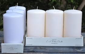 3 x 6 pillar candles box of 12
