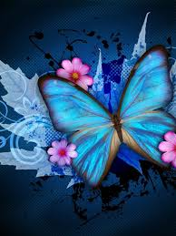 blue and pink halloween background butterfly wallpapers ipad