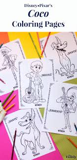 Coco Coloring Pages Disney Family Coloring Characters