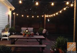Awning String Lights Patio Awning On Home Depot Patio Furniture With Amazing Outdoor