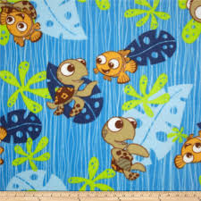 disney finding nemo fleece blue discount designer fabric