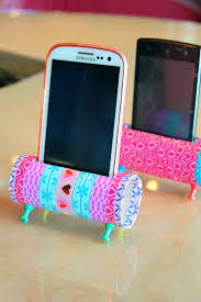 diy phone holder with toilet paper rolls easy craft