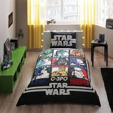 star wars single twin size duvet quilt cover set yoda darth vader