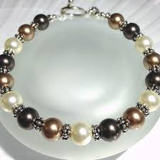 crystal pearl bracelet swarovski images Blue grey pearl necklace beaded jewelry from sparkleandsplendor jpg