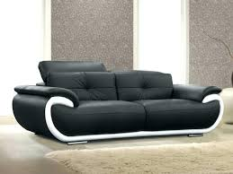 canapé cuir noir 2 places canape cuir noir 2 places canapac 2 fauteuils relax aclectriques