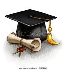 graduation diploma drawing graduation cap diploma stock illustration 70751740