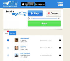 35 Websites To Send Text - mytalky send audio messages with twitter
