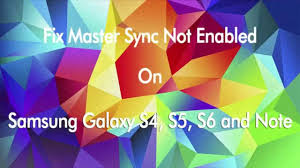 android master sync how to fix master sync has been turned error on galaxy s4 s5