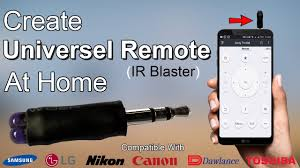 ir blaster android how to make a diy universal remote for android mobile at