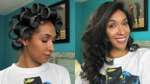 hair growth with wet set hairstyle curly to straight hair roller set youtube
