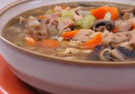 leftover turkey soup with mushrooms kalyn s kitchen