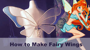 how to make fairy wings winx youtube