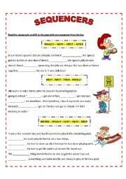 english worksheet sequencers writing stuffs