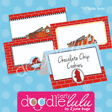 party printables vintage fire truck fireman fire engine
