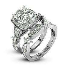 ring weding 29 jewelry solid sterling silver 2 ring wedding set from