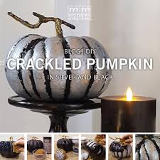 halloween diy metallic crackle pumpkin modern masters cafe blog