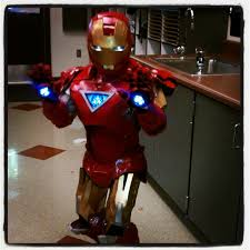 Tony Stark Halloween Costume Watch Tony Stark Iron Man Town Boy