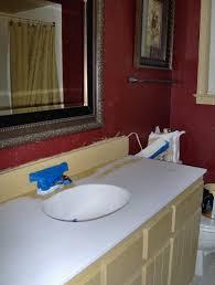 My Painted Bathroom Vanity Before - painting a vanity top diy