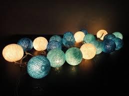 battery powered cl light battery powered led 20 mixed blue ocean sky tone cotton balls fairy