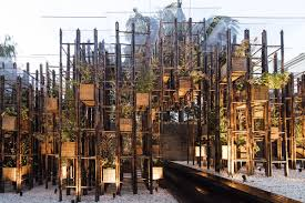 Harbinger Tiny House by Geometric Bamboo Pavilion Showcases U0027green Steel U0027 And Sustainable